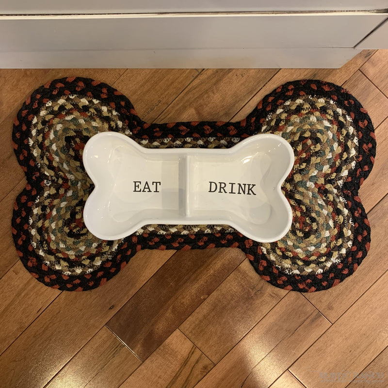 LARGE WHITE PINE TRAY WITH IRON HANDLES