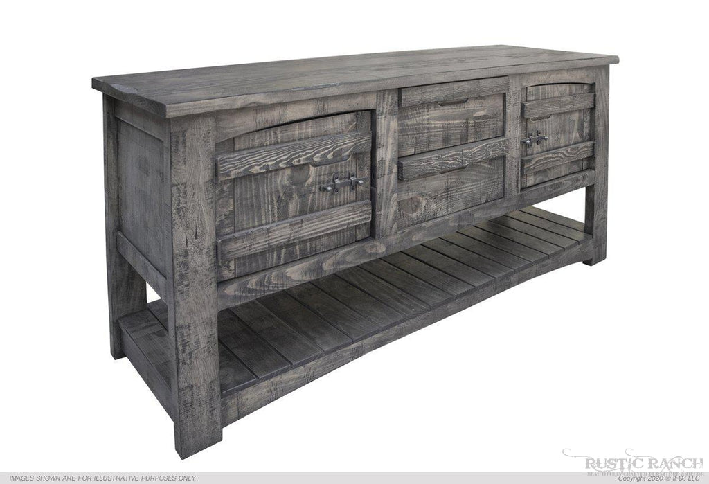 SAN ANTONIO SOFA TABLE-Rustic Ranch