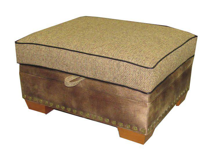 BALDWIN STORAGE OTTOMAN-Rustic Ranch