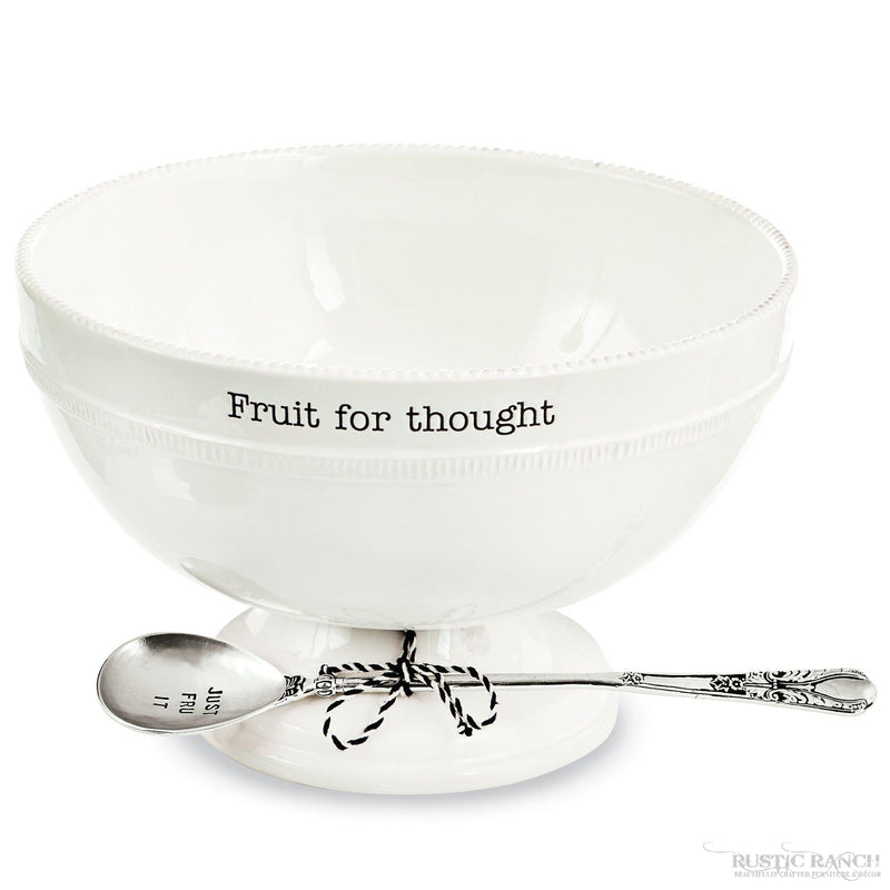 FRUIT FOR THOUGHT FRUIT BOWL SET-Rustic Ranch