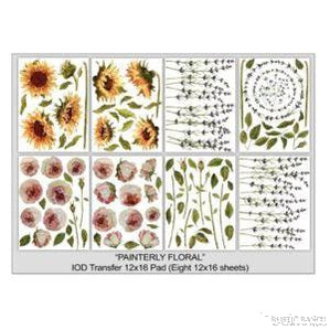 PAINTERLY FLORAL TRANSFER PAD-Rustic Ranch