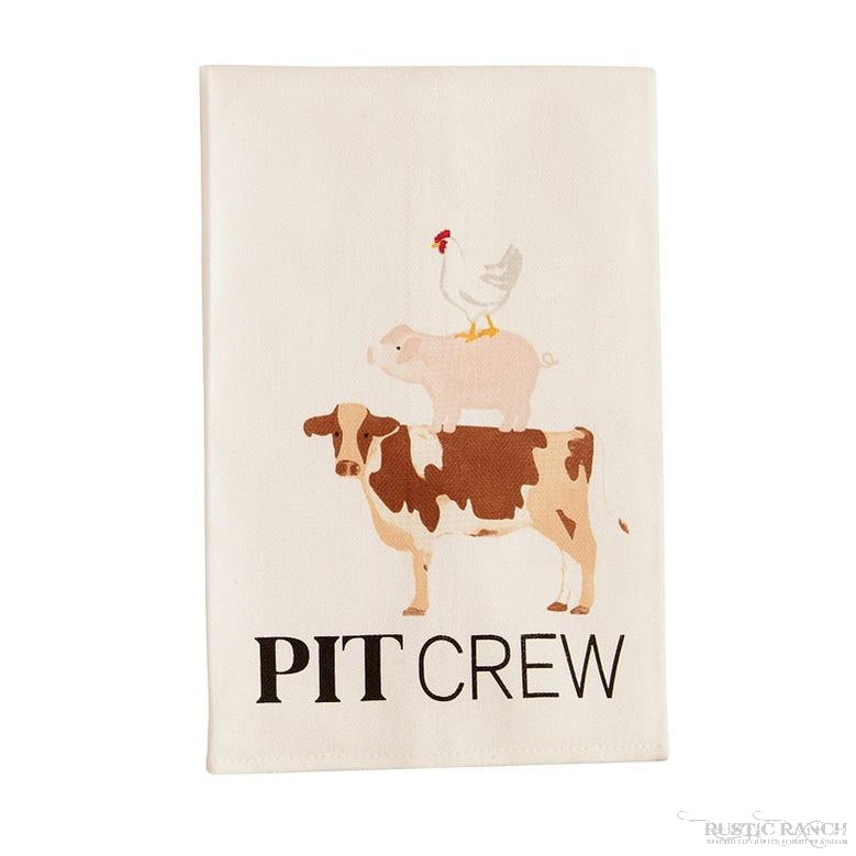 FUNNY BBQ TOWEL BY MUDPIE - 4 ASST-Rustic Ranch