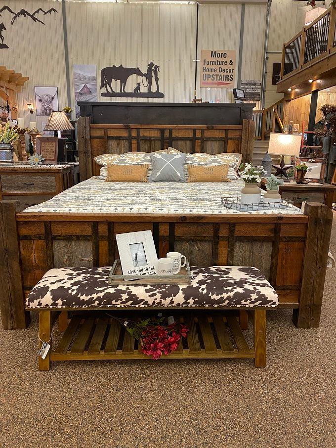 HERITAGE RICHLAND KING BED-Rustic Ranch