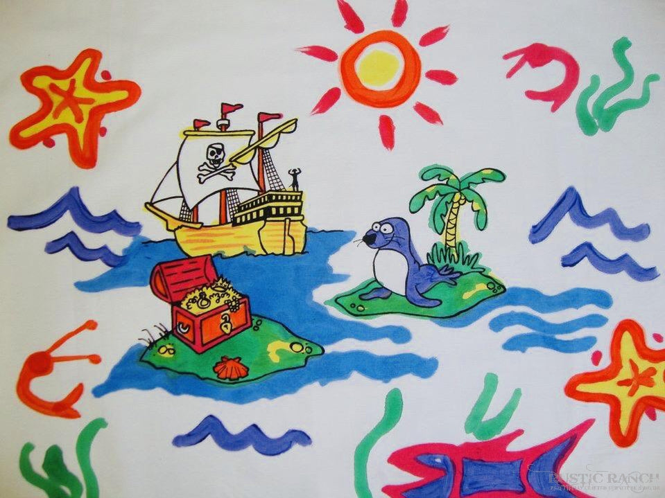 PIRATE PAINTABLE PILLOWCASE-Rustic Ranch