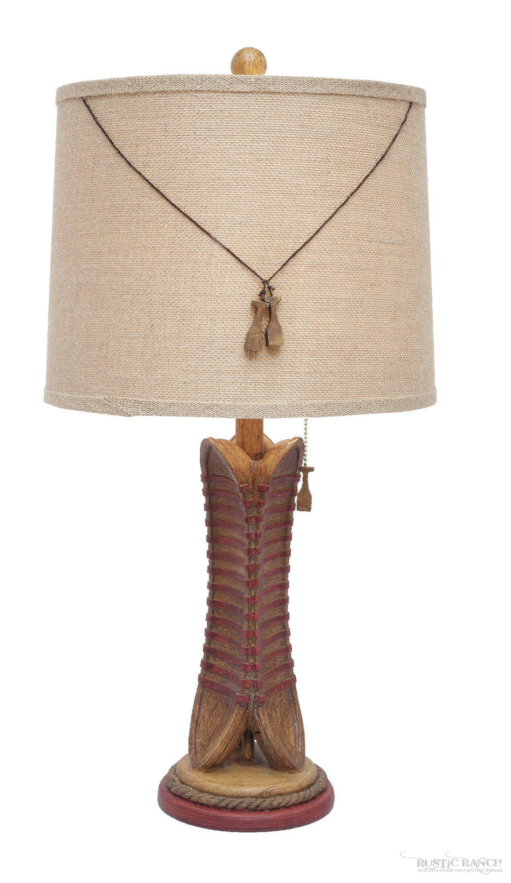 CANOE TABLE LAMP-Rustic Ranch