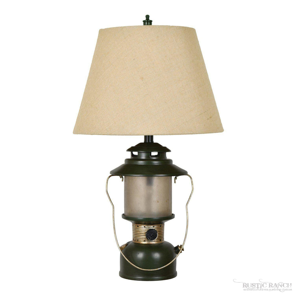 CAMP LANTERN TABLE LAMP-Rustic Ranch
