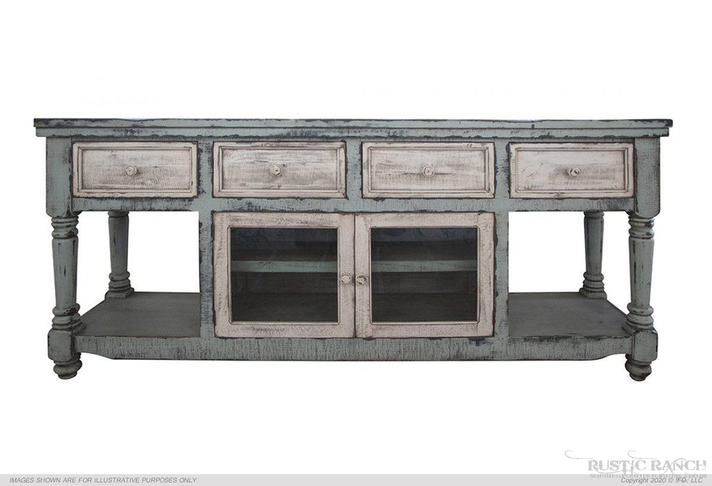 ARUBA SKY BLUE STAND-Rustic Ranch