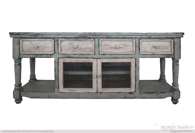 "65"" TV Console w/Barn Door"
