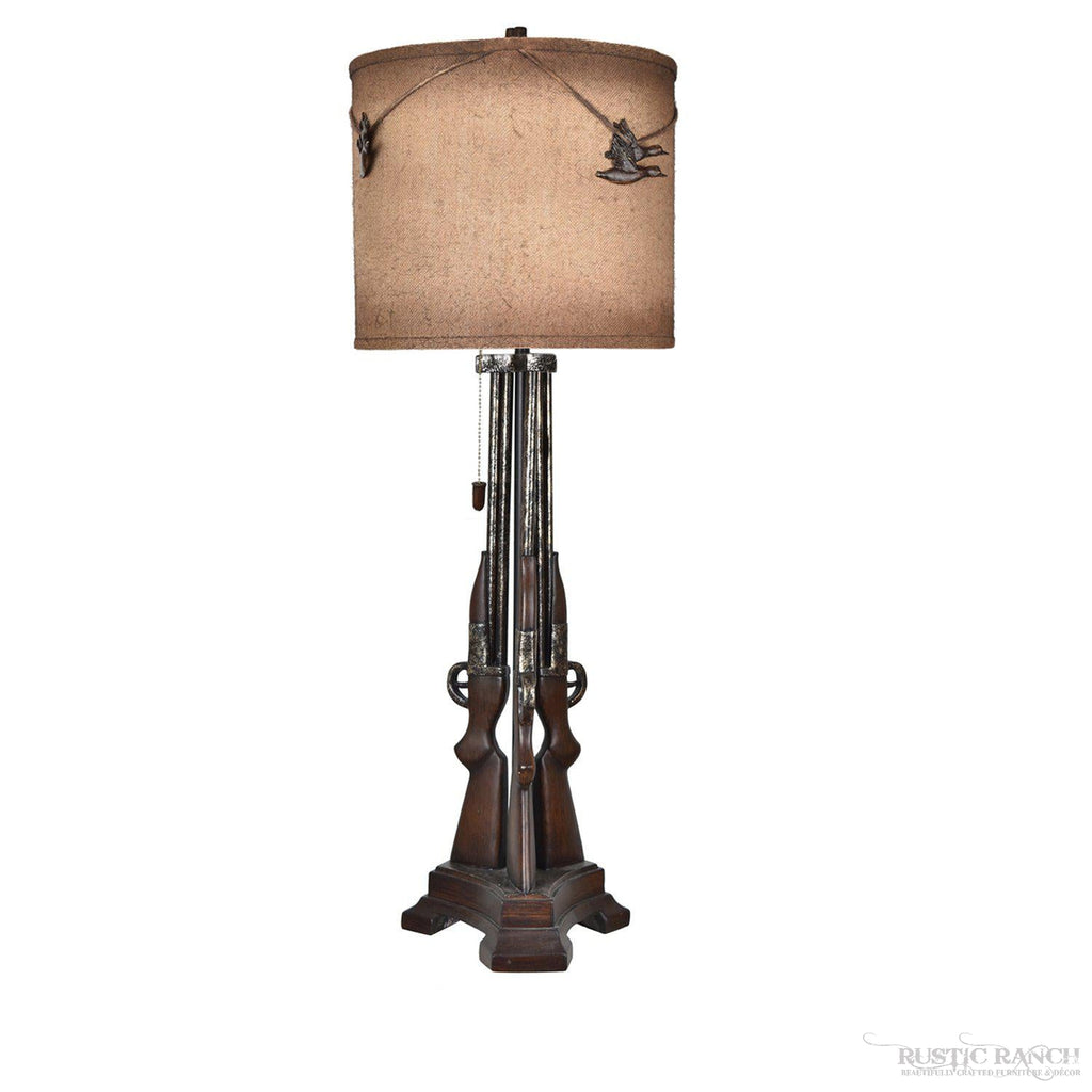 SHOT GUN TABLE LAMP-Rustic Ranch