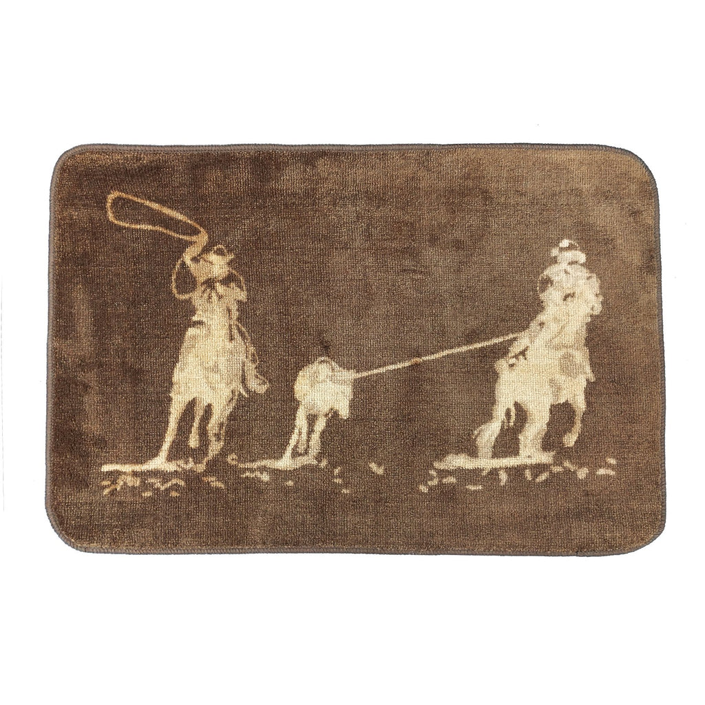 TEAM ROPING RUG - DARK CHOCOLATE-Rustic Ranch
