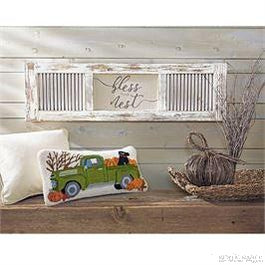 BLESS THIS NEST SHUTTER PLAQUE-Rustic Ranch