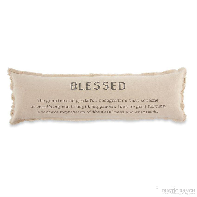 BLESSED LONG PILLOW-Rustic Ranch