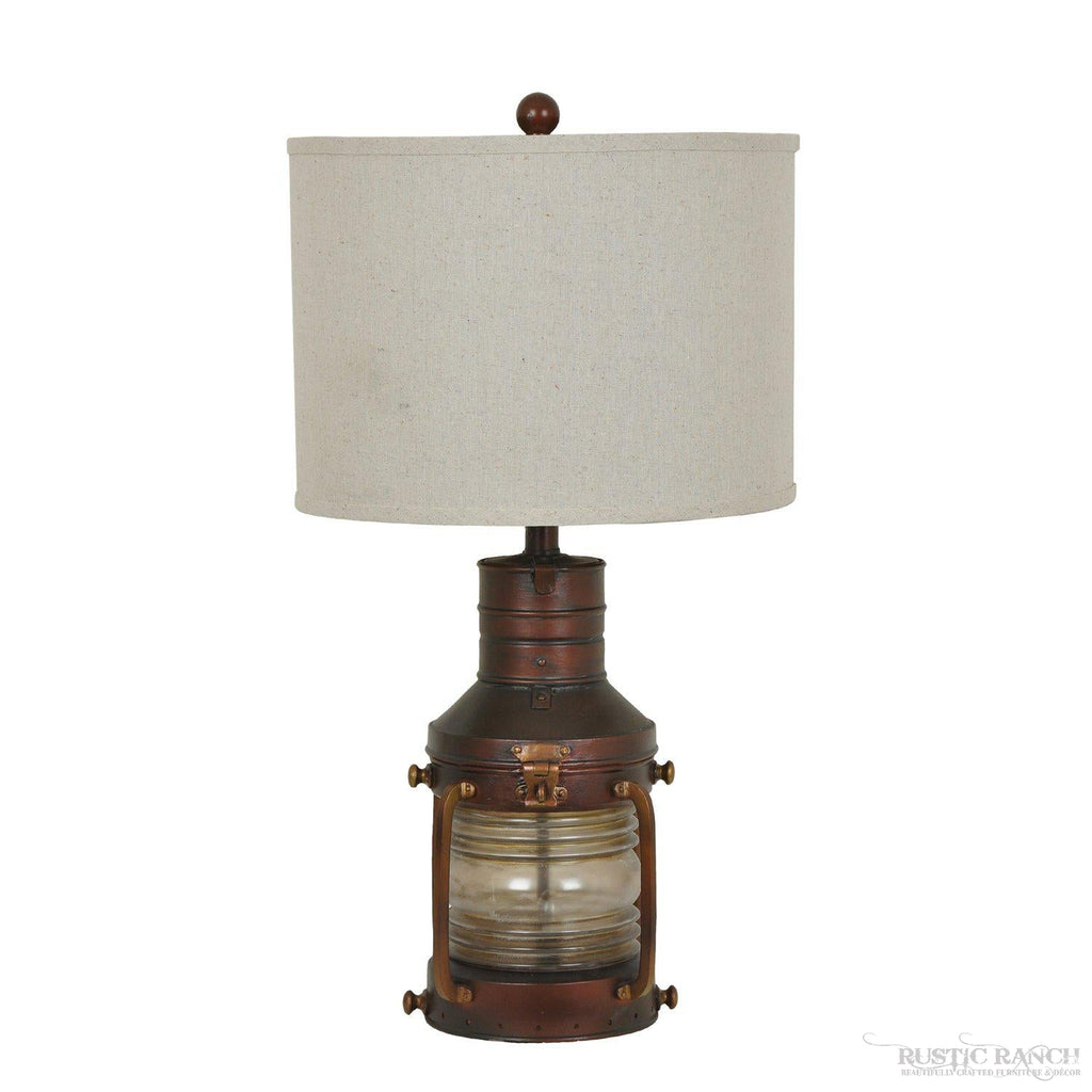 COPPER LANTERN LAMP-Rustic Ranch