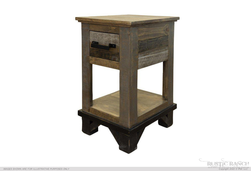 LOFT CHAIR SIDE TABLE-Rustic Ranch