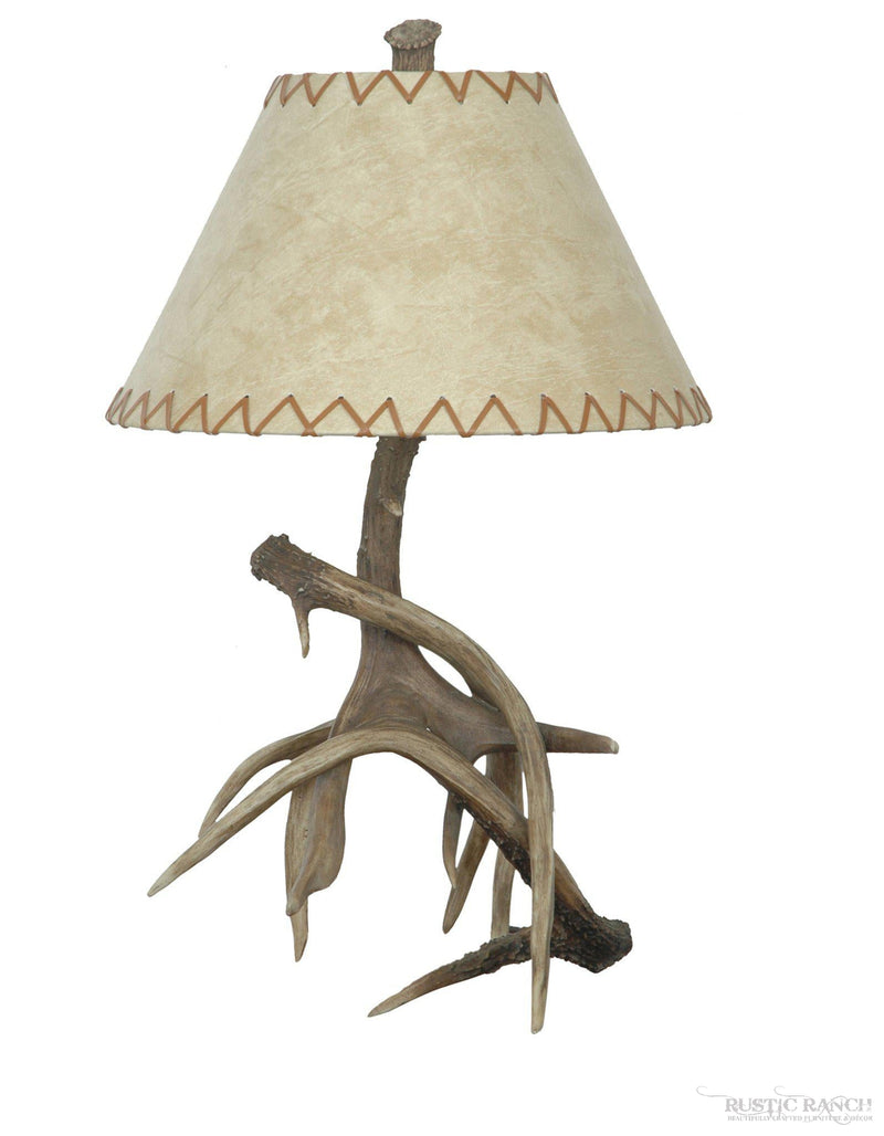 Antler Table Lamp-Rustic Ranch