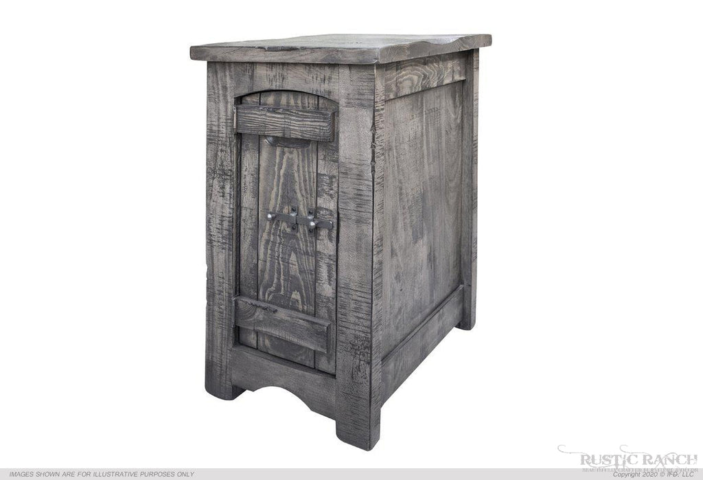 SAN ANTONIO CHAIR SIDE TABLE-Rustic Ranch