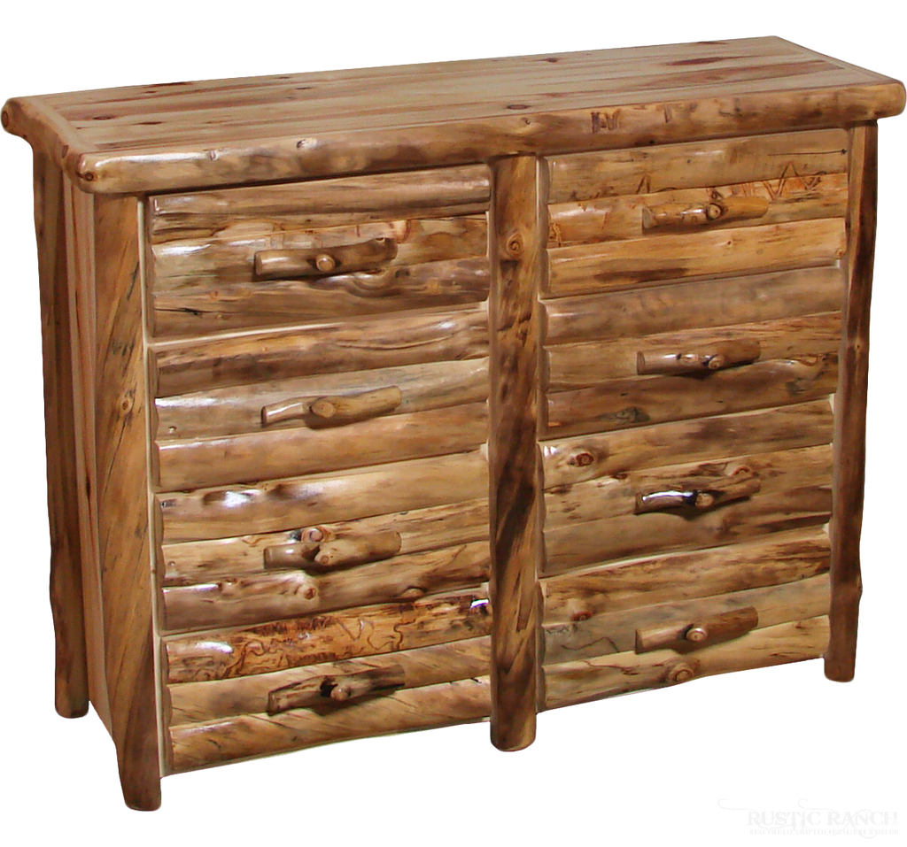 "72"" 8 DRAWER ASPEN DRESSER-Rustic Ranch"