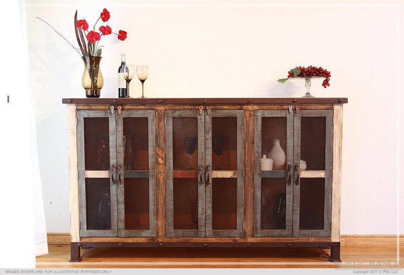 "ANTIQUE MULTI COLOUR 70"" CONSOLE-Rustic Ranch"