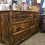 Barnwood Seven Drawer Dresser-Rustic Ranch