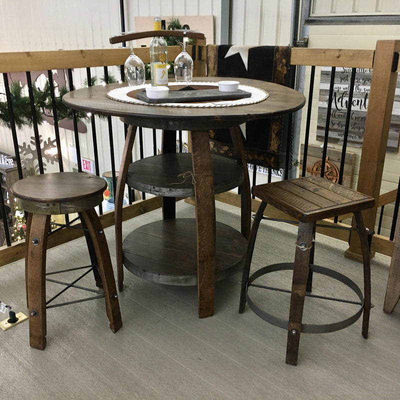 BARRIQUE BISTRO TABLE-Rustic Ranch