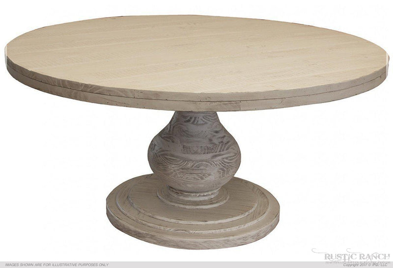 BONANZA TABLE BASE - ANTIQUED IVORY-Rustic Ranch