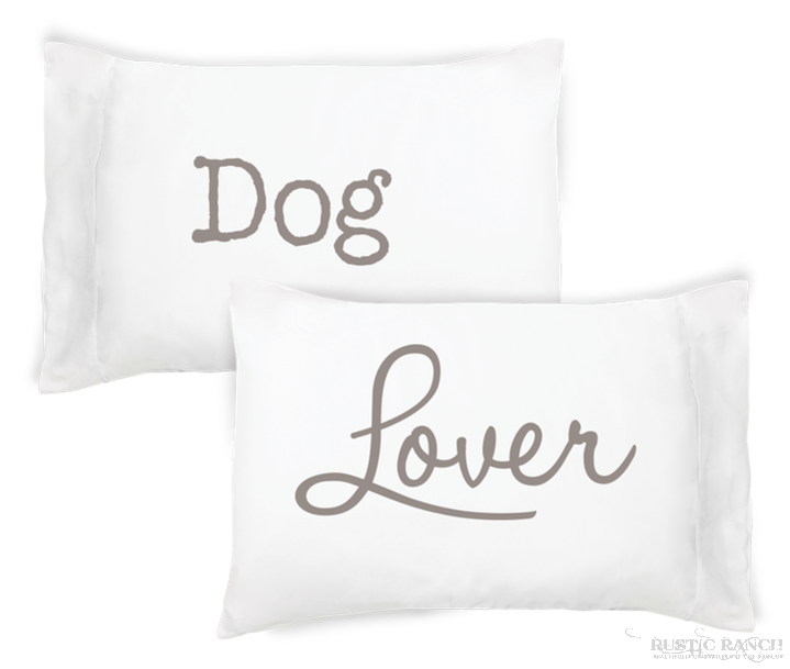 Dog Lover Pillow Case Set-Rustic Ranch