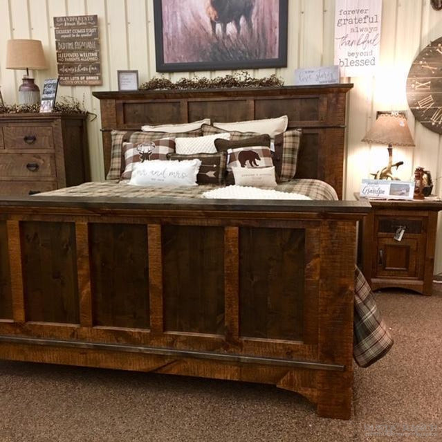 Glen Falls Panel King Bed-Rustic Ranch