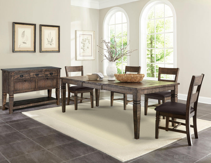 HOMESTEAD DINING TABLE WITH BUTTERFLY LEAF-Rustic Ranch