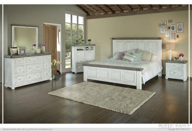 LUNA HEADBOARD - QUEEN-Rustic Ranch