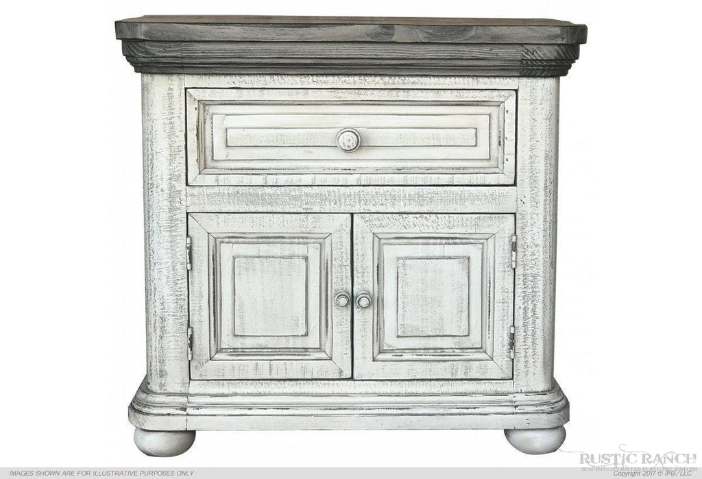 LUNA NIGHTSTAND-Rustic Ranch