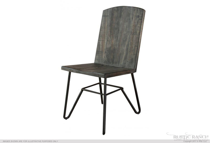 MORO DINING CHAIR WITH IRON LEGS-Rustic Ranch