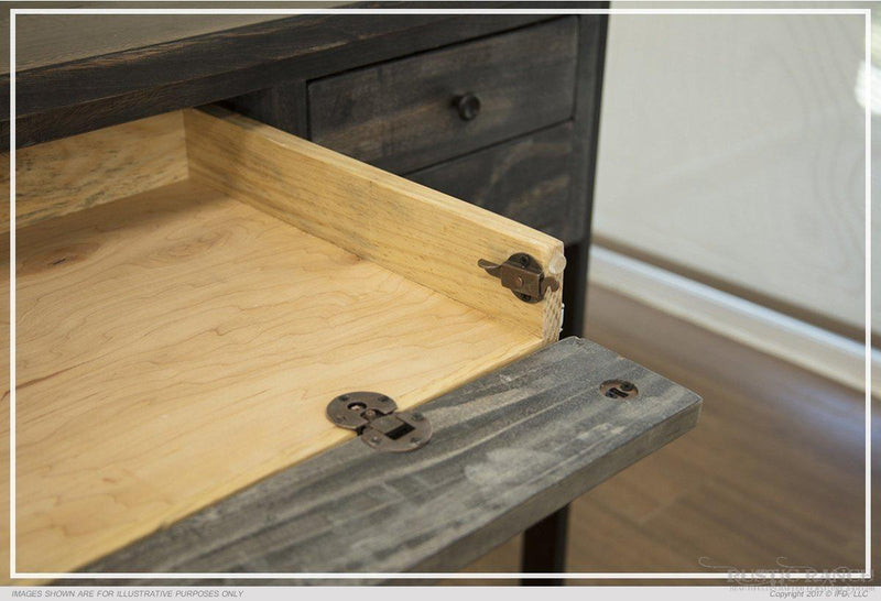 MORO FIVE DRAWER DESK-Rustic Ranch