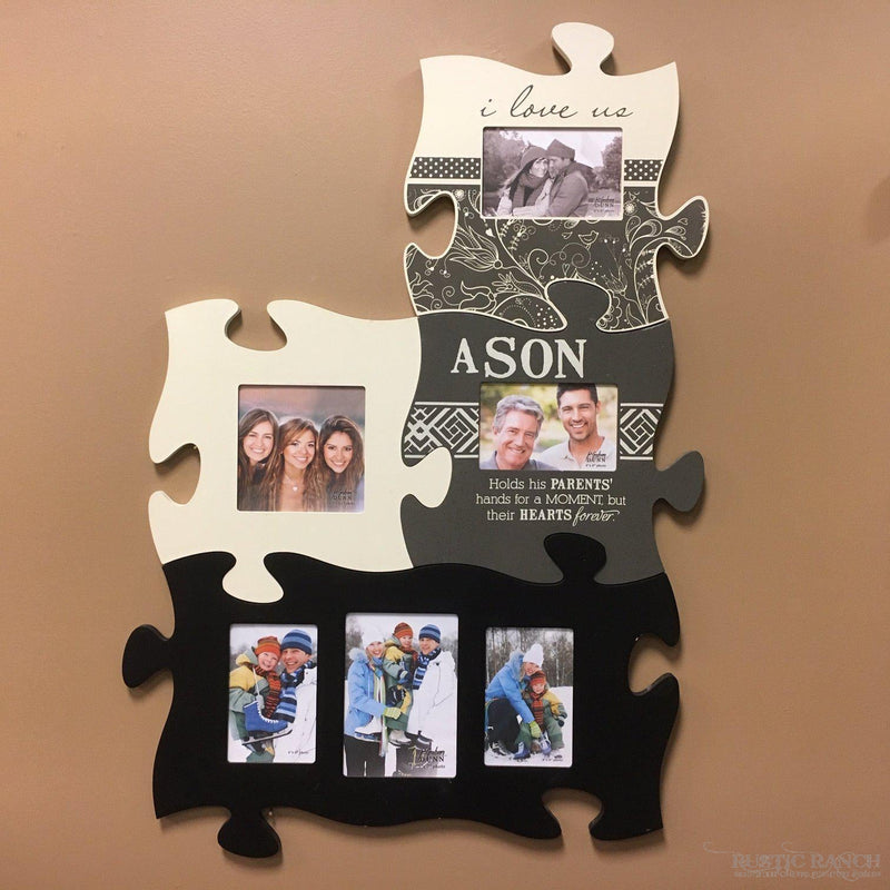 My Blessings Puzzle Piece-Rustic Ranch