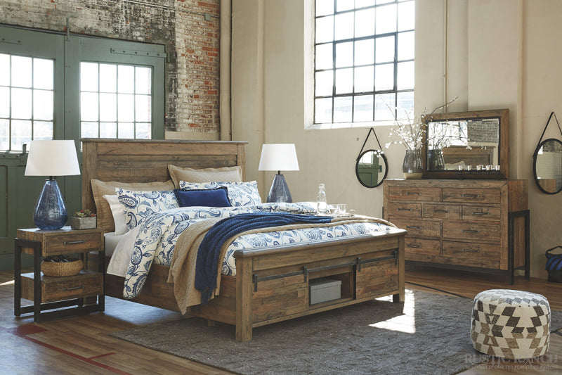 SOMMERFORD KING HEADBOARD-Rustic Ranch