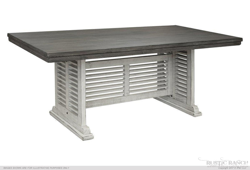 STONE COUNTER HEIGHT SHUTTER TABLE BASE-Rustic Ranch