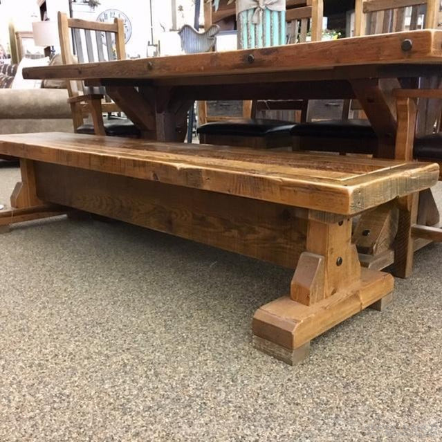 STONY BROOKE 7' TRESTLE BENCH-Rustic Ranch