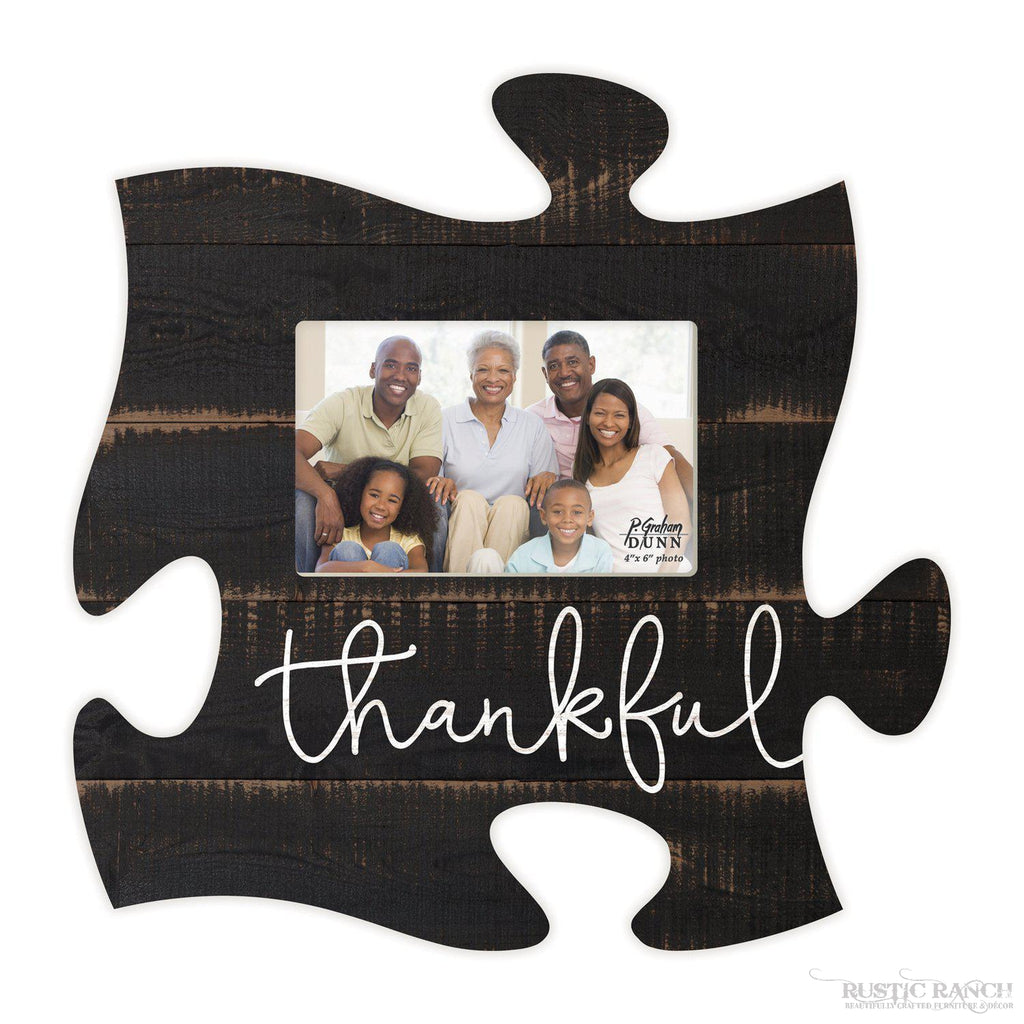 Thankful - Puzzle Piece-Rustic Ranch
