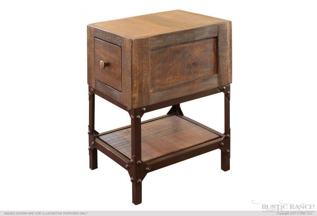 URBAN GOLD CHAIR SIDE TABLE-Rustic Ranch