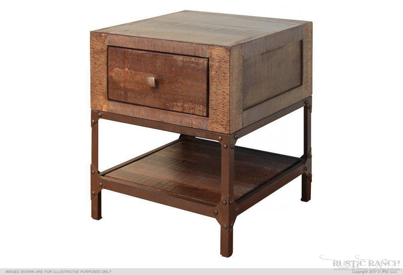 URBAN GOLD END TABLE-Rustic Ranch