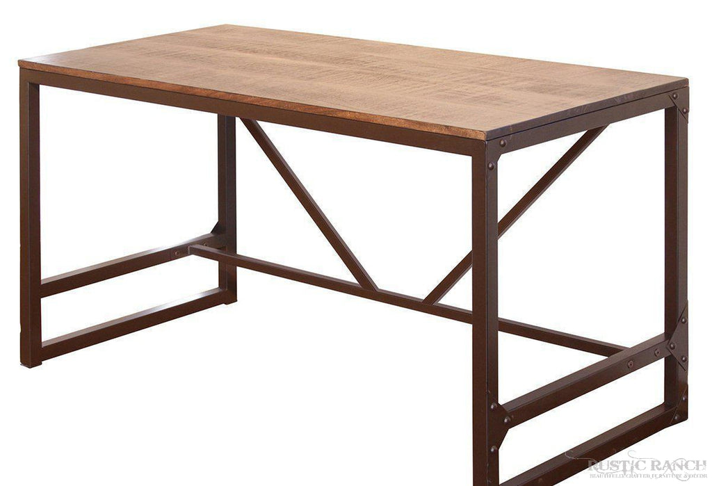 URBAN GOLD WRITING DESK-Rustic Ranch
