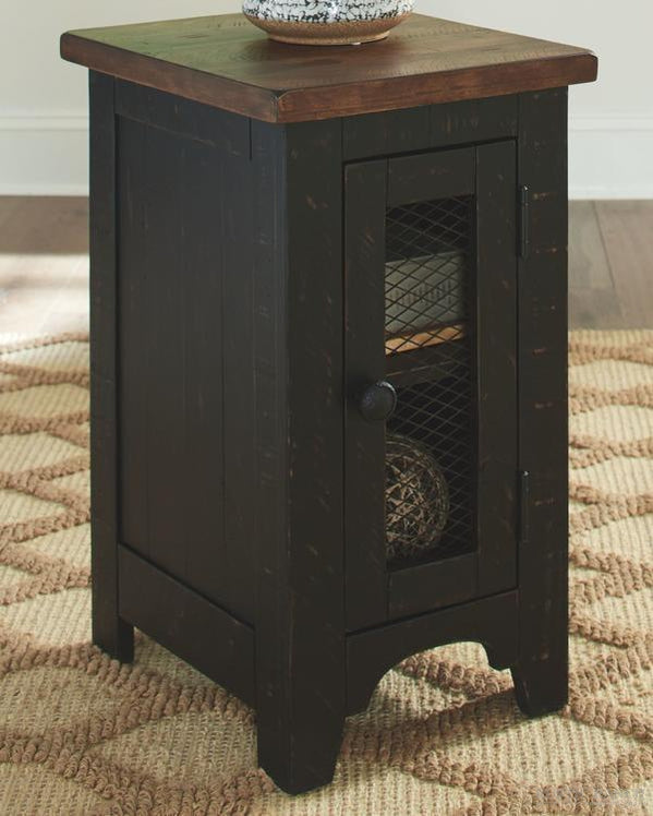 VALEBECK SIDE TABLE-Rustic Ranch