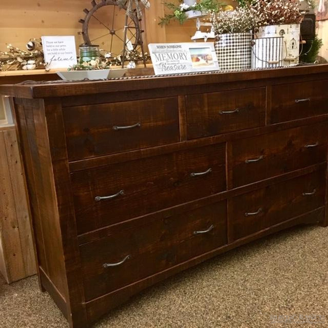 WOODLAND PARK 7 DRAWER DRESSER-Rustic Ranch