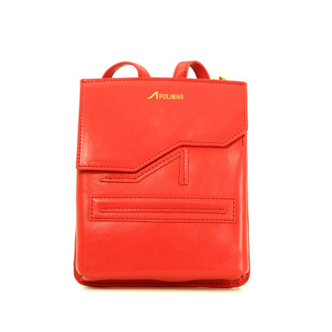 APOLINAR RED LEATHER BELT BAG