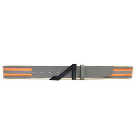 3M GREY REFLECTIVE ORANGE BELT W/GUNMETAL BUCKLE