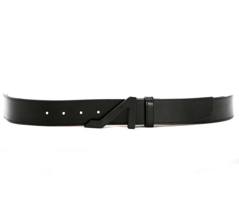 BLACK NAPA LEATHER BELT W/ BLACK BUCKLE