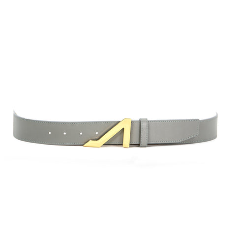 GREY BELT WITH GOLD BUCKLE MADE WITH NAPA LEATHER