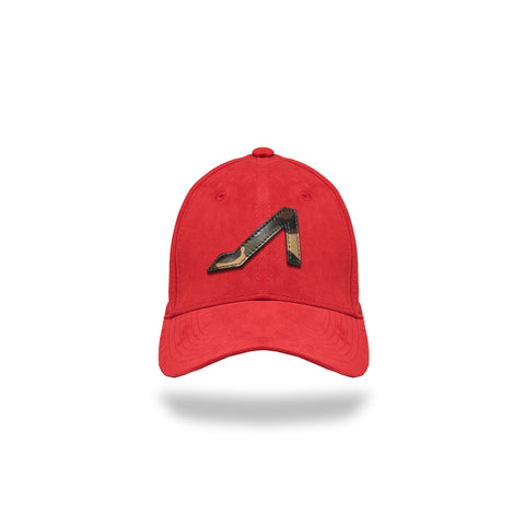 Red Ultra Suede with Camo Logo