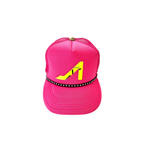 Coral Trucker with Ranilopa Lime Logo