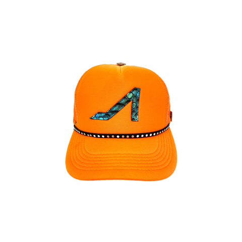 Orange Trucker with Multi Logo