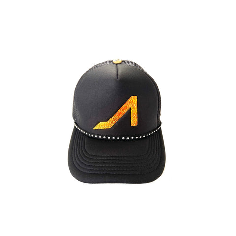 Black Trucker with Galaxy Logo